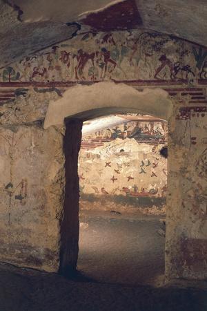 Italy, Latium Region, Viterbo Province, Tarquinia Etruscan Necropolises