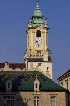 Slovakia, Bratislava,Tower of Old Town Hall