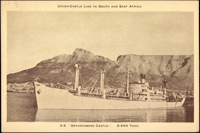 Union Castle Line, S.S. Drensberg Castle