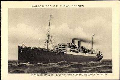 Norddeutscher Lloyd Bremen, Dampfer Prinz Fr. Wilhelm