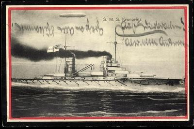 Passepartout Künstler Kriegsschiff S.M.S Kronprinz