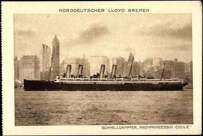 Norddeutscher Lloyd Bremen, Dampfer Prinzess. Cecilie