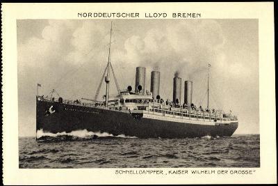 Norddeutscher Lloyd Bremen, Dampfer Kaiser Wilhelm I