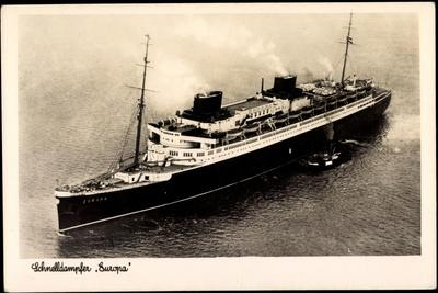 Lloyd Bremen, Dampfer Europa, Fliegeraufnahme