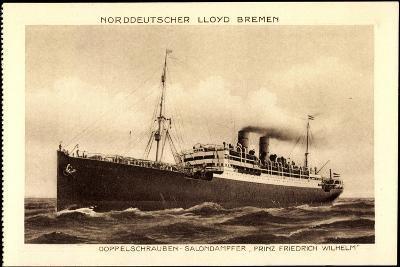 Lloyd Bremen, Dampfer Prinz Friedrich Wilhelm