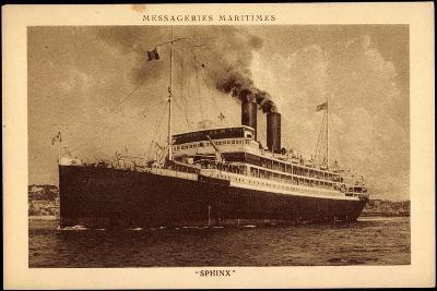 Dampfschiff Sphinx, Messagerie Maritimes, MM