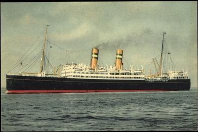Hapag, Dampfschiff S.S. Veendam in Fahrt Auf See