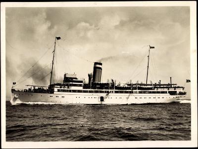 Hapag, Seebäderdienst, Dampfschiff Cobra in Fahrt