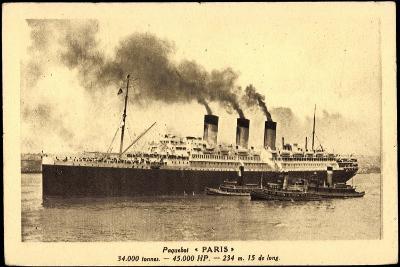 Paquebot Paris, Cgt, Transatlantique, Dampfschiff
