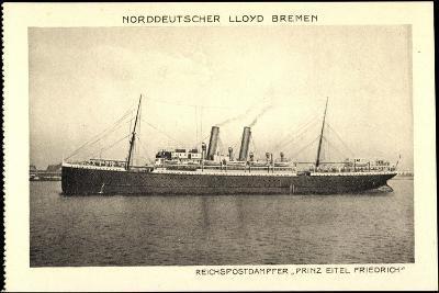 Norddeutscher Lloyd Bremen, Dampfer Prinz Eitel Fr