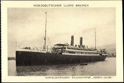 Norddeutscher Lloyd Bremen,Dampfer Königin Louise