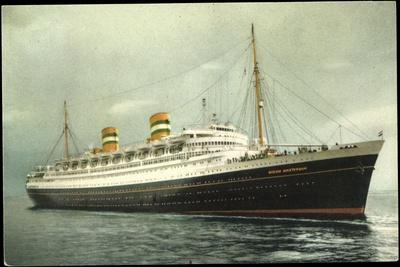 Hapag, Dampfschiff S.S. Nieuw Amsterdam in Fahrt