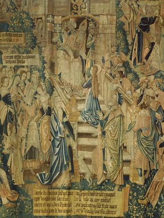 Detail of 16th Century Flemish Tapestry of the Life of the Virgin Mary