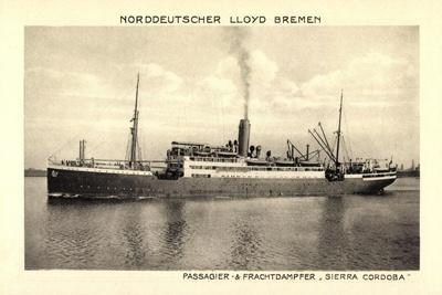 Norddeutscher Lloyd Bremen, Dampfer Sierra Cordoba