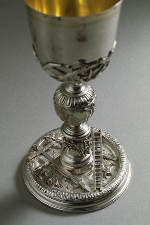 Silver Chalice, Base with Reliefs Representing the Symbols of Jesus Christ's Passion