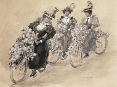 Austria, Vienna Painting of the Bicycle Ride
