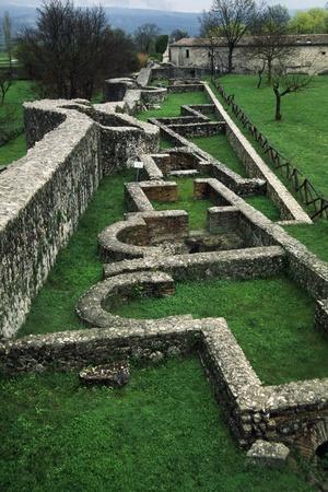 Ruins of Roman Houses, Ancient Roman City of Saepinum, Sepino, Molise, Italy