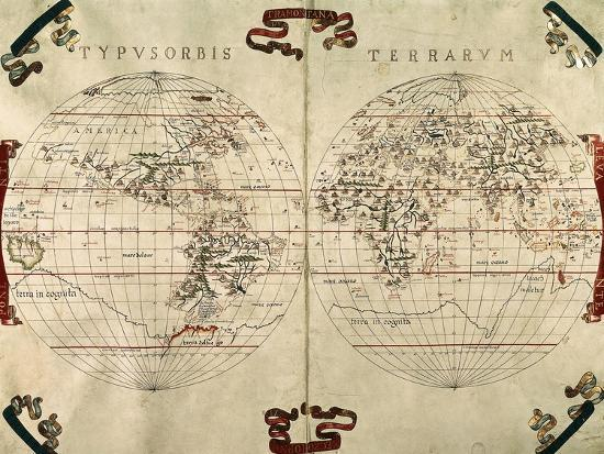 1587 World Map.World Map 1587 Giclee Print At Allposters Com