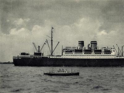 Hapag, Dampfschiff Hamburg, Modell Von D. Bartsch
