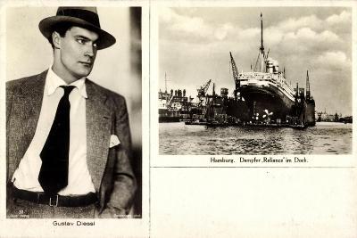 Schauspieler Gustav Diesel, Hamburg,Dampfer Reliance