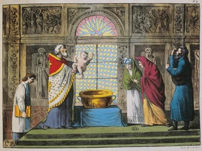 Christening Ceremony in Orthodox Church