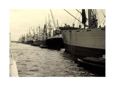 Foto Dampfschiffe Im Hafen, Dampfer Hersilia