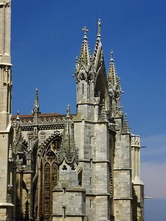 Spain, Leon, Cathedral, 13th Century, Gothic Style, Exterior, Detail