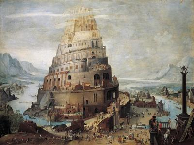 Construction of Tower of Babel, 16th Century