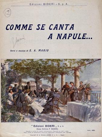 Neapolitan Song Comme Se Canta a Napule, Cover of Piano Sheet Music