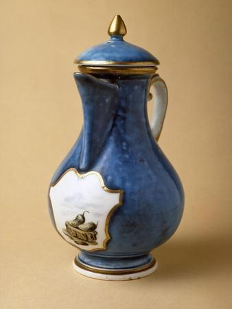 Turquoise Coffee Pot and Lid, 1745-1750, Porcelain