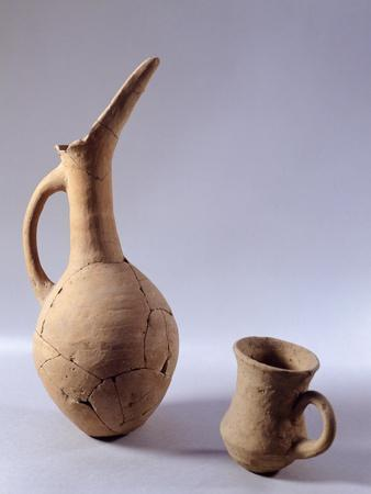 Terracotta Vase with Spout from Archaeological Site of Troy III, Turkey Anatolian Civilization