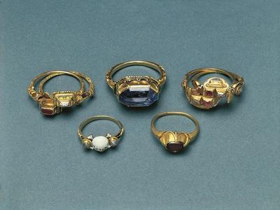 Gold, Enamels and Precious Stones Memento Mori Rings