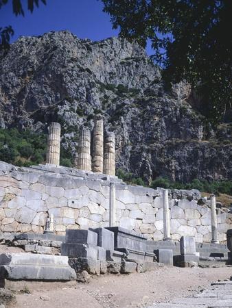 Greece, Delphi, Portico of the Athenians,5th Century BC, Ancient Greece