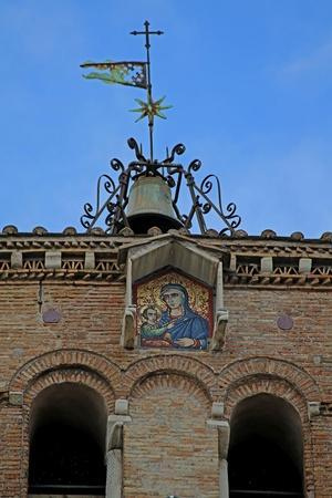 The Tower with Mosaic of the Virgin and Child