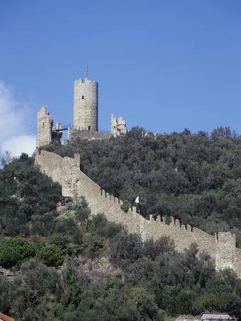 Italy, Liguria Region, Castle in Noli