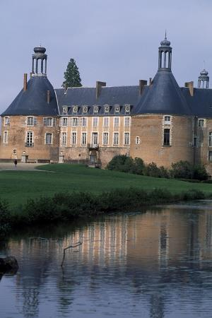View of Castle of Saint-Fargeau, Burgundy, France, 15th-17th Century