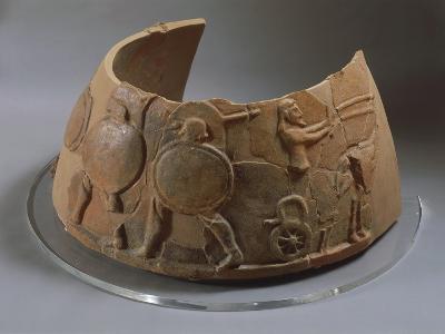 Terracotta Omphalos, from Second Palace of Murlo, Tuscany Region, Italy