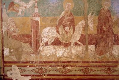 The Flight into Egypt in Church of Saint-Aignan, Brinay, France, 12th Century
