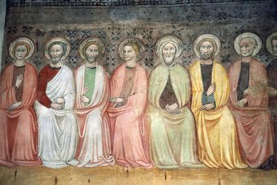 Jesus Among Twelve Apostles in Apse of Church of St Andrew Apostle, Spello, Umbria, Italy