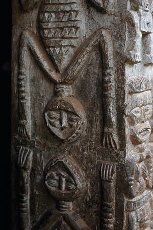 Anthropomorphic Relief on Village Chief's House, Bamileke Chiefdom, Bana, West Region, Cameroon