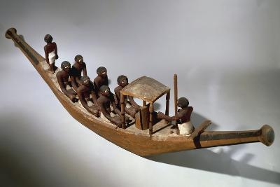Model of Boat, from Tomb of Ini, Gebelein, First Intermediate Period, 10th Dynasty