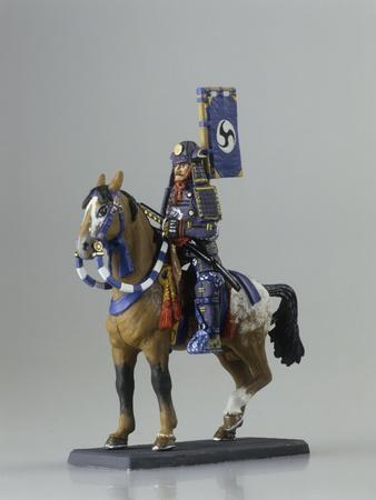 Japanese Samurai Toy Soldier on Horse