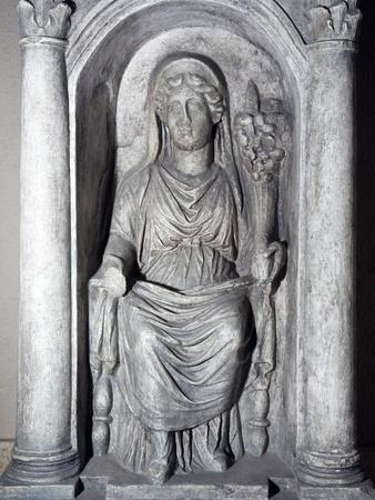 Temple with the Goddess Fortuna, Bas-Relief