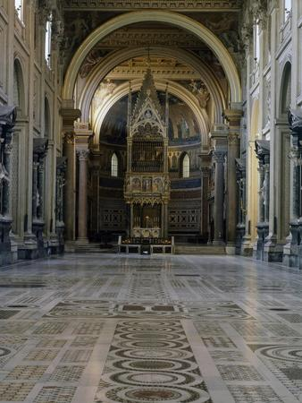 Central Nave and Main Altar, St John Lateran's Archbasilica, Rome, Italy