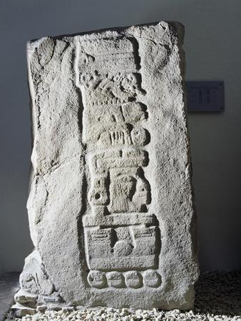 Stele 13 with Glyphs, Calendar and Dating System, Mexico, Zapotec Civilization, 6th-5th Century BC