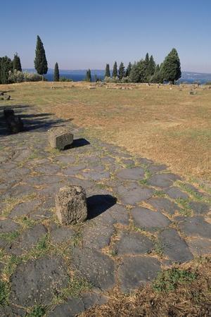 Forum Square Area from Flavian Period, Poggio Moscini, Bolsena, Lazio, Italy