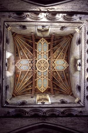 Vaulting Above Choir in Saint David's Cathedral, Saint Davids, Pembrokeshire, Wales