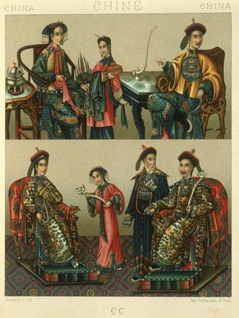 Illustration of Imperial Family of Chin; China