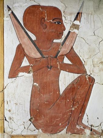 Mural Depicting Naked Woman with Shaved Head
