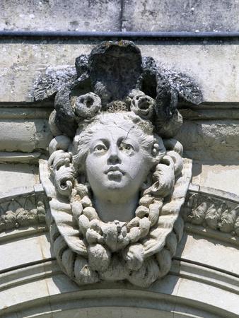 Decorative Detail from Chateau De Craon, Pays De La Loire, Detail, France